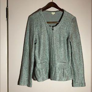 J Crew Silver Sweater Blazer